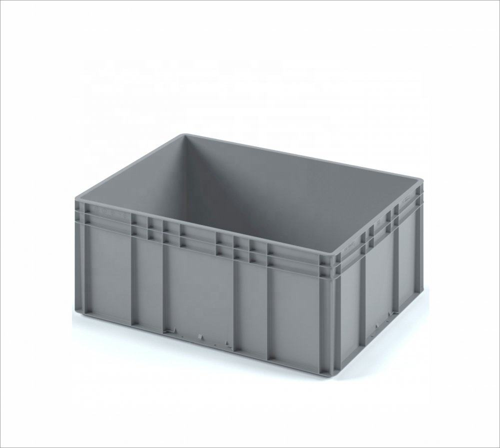 Plastic crate 800x600x320 (EC-8632) With Reinforced Bottom PP Plastic Crates For Shipping, Food, Warehouse