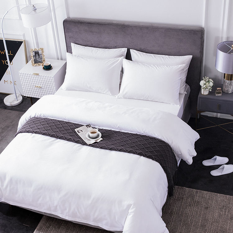 Easton Brand factory product OEM design patchwork comfort hotel linen 100% cotton waterproof 4pcs durable new bedding set