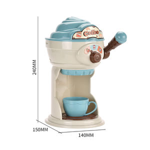 Blue Coffee Maker Toy Party To Kids Pretend Play Kitchen Toys Simulation Cooking Bread Cake Coffee Machine Toy Set For Girls