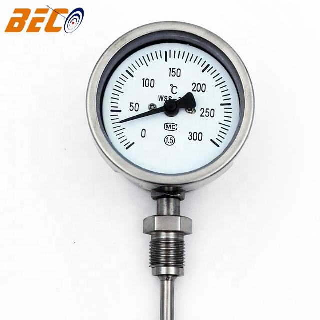 Beco WSS411 stainless steel bimetal thermometer high quality temperature gauge for boiler