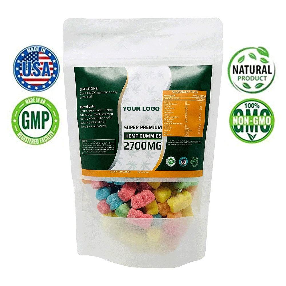 Custom Design cannabidiol Hemp Gummy Bears All Natural