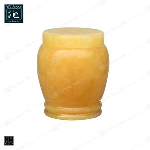 Low Price Guaranteed Quality Natural Yellow Stone Marble/Granite Cremation Urn for Sale Marble Urn