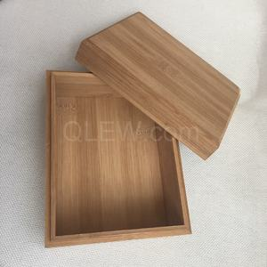 Custom Engraving Logo Slide Lid Gift Bamboo Wooden Box with lid