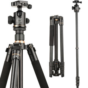 2020 new Q520  146cm camera tripod   professional tripod stand with Q02 ball head   aluminum portable tripied for video camera