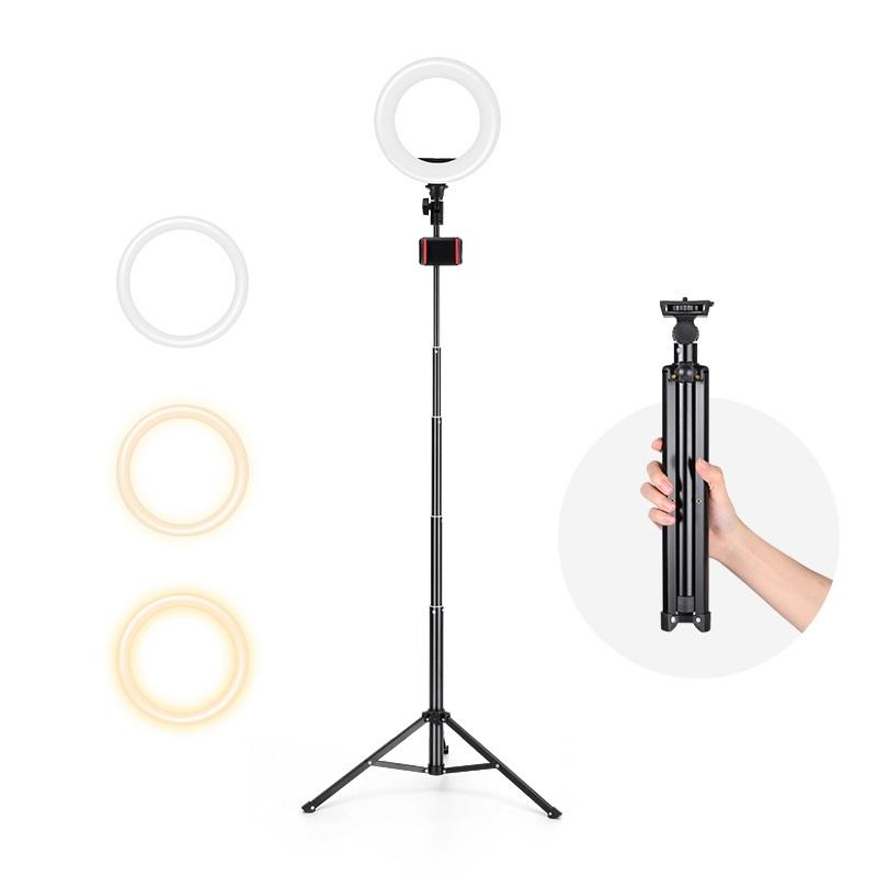 Mobile Cell Phone Holder Tiktok Photography Led Selfie Ring Light With Tripod Stand For Live Stream Makeup Youtube Video