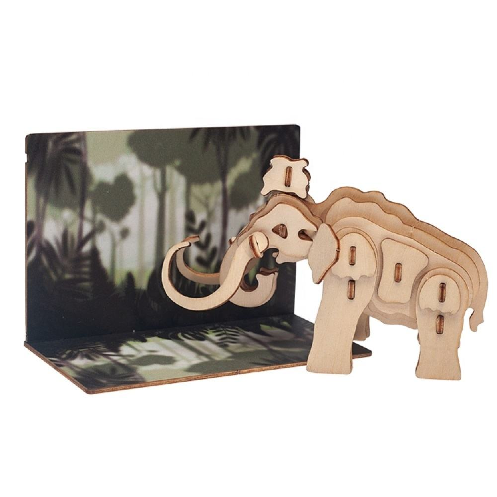 Custom laser cut and die cut animal wooden toy