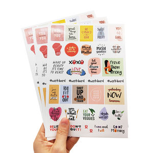Waterproof Custom Self Adhesive Vinyl A4 A5 A6 Sheets Kiss Cut Paper Sticker Labels Printing