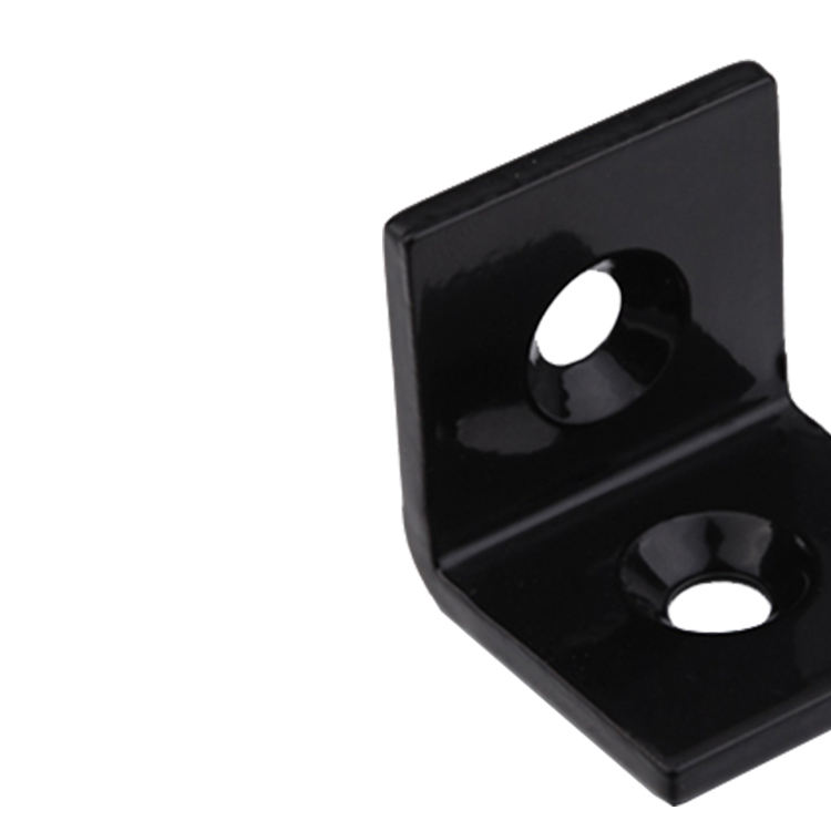 Gold supplier steel black powder 20x20 30x30 40x40 right angle bracket for 20 30 40 series profile(320.02/03/04A)