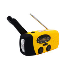 Emergency Mini Portable Hand Crank Solar Charging Am Fm Radio