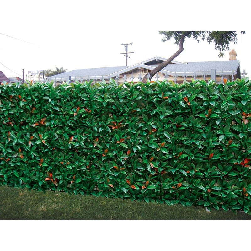 Leaves Weatherproof Outdoor Green Leaf Fence Wall Turf Artificial Plant For Home Decor