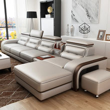 On Sales Fancy New Model 4 Seater Genuine Leather Sofa Living Room Furniture