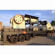 Jaw Crusher Mobile Station Portable Stone Concrete Crushing Plant
