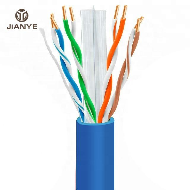 CAT6 <span class=keywords><strong>UTP</strong></span> LAN CABLE簡単プルボックス305mテスト4ペア24 AWG Cobre Cable de red RJ45 Cat6 <span class=keywords><strong>UTP</strong></span> 1000ft