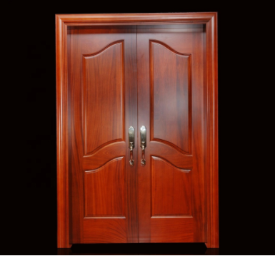 Hot sale modern design factory price crafted wooden carving main double wood doors
