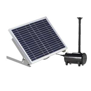 10W Solar Water Pump Kit with Mushroom and Blossom Spray Heads for Pond Water Feature fish Pool Garden bird bath fountain