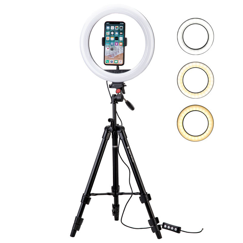 Hot Selling Custom Selfie Photography Beauty Live Cell Phone 10in Ring Light for Video