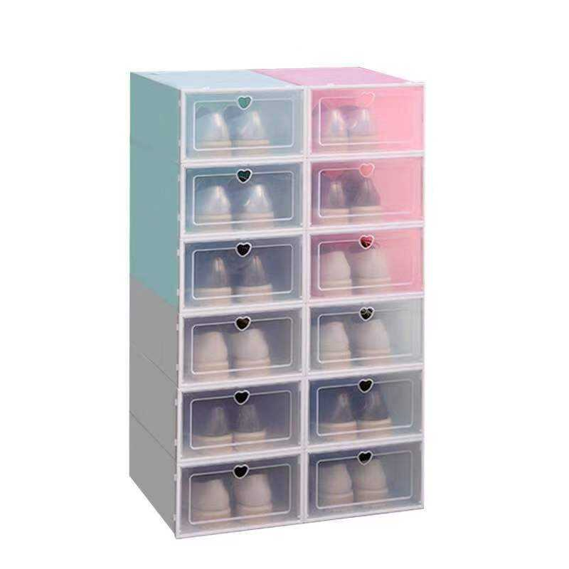stackable plastic PP storage bin box for shoes documents Office clothing Organizer