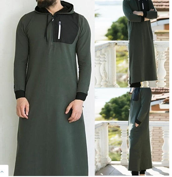 Islamic long Dress Hooded Dress For Men