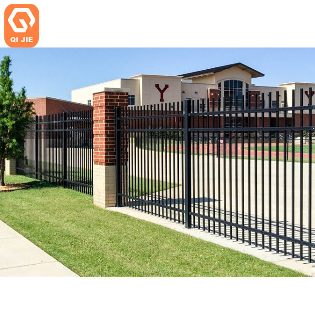 ASTM F2589 powder coatings wrought iron ornamental fence caps for commercial project