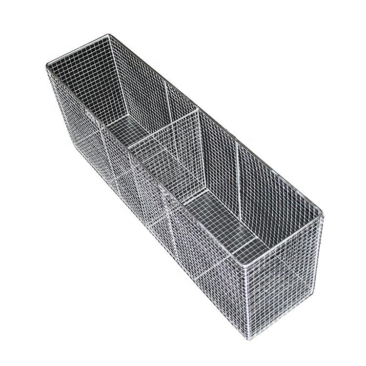 Stainless steel storage baskets fruit picnic double grid baskets iron steel wire drawers kitchen waterproofing basket customized