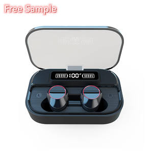 Free Sample Mini 5.0 Earphone Wireless G05 IPX7 Waterproof LED Display Touch Control with 2000mAh Power Bank