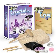 Gemstone Dig Kits Excavate 5 Real Gems Crystal Cluster Rock Mining Kits Mineralogy Geology Science STEM Gift for Kids