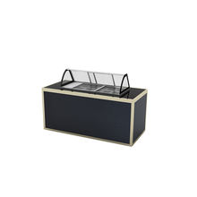 Simple design aluminium alloy foldable food cart buffet station