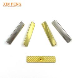 Rectangle metal button zinc alloy rectangular shank button for sofa