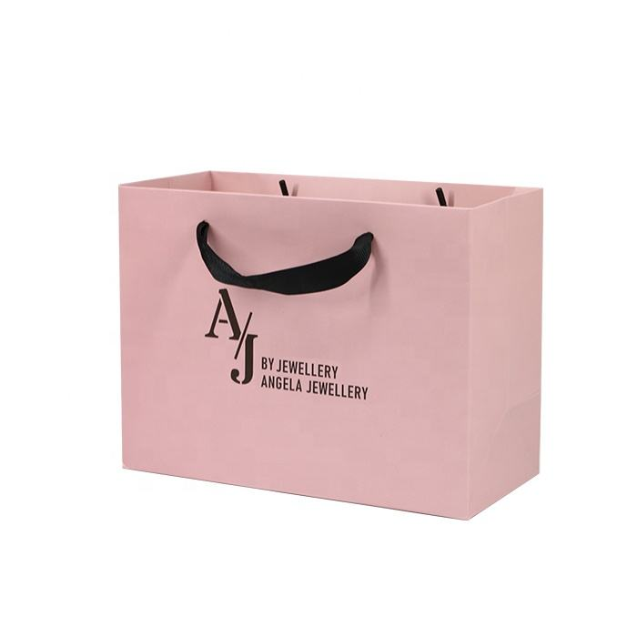 Custom Luxury Gift Garment Paper Shopping Bags With Logo Print