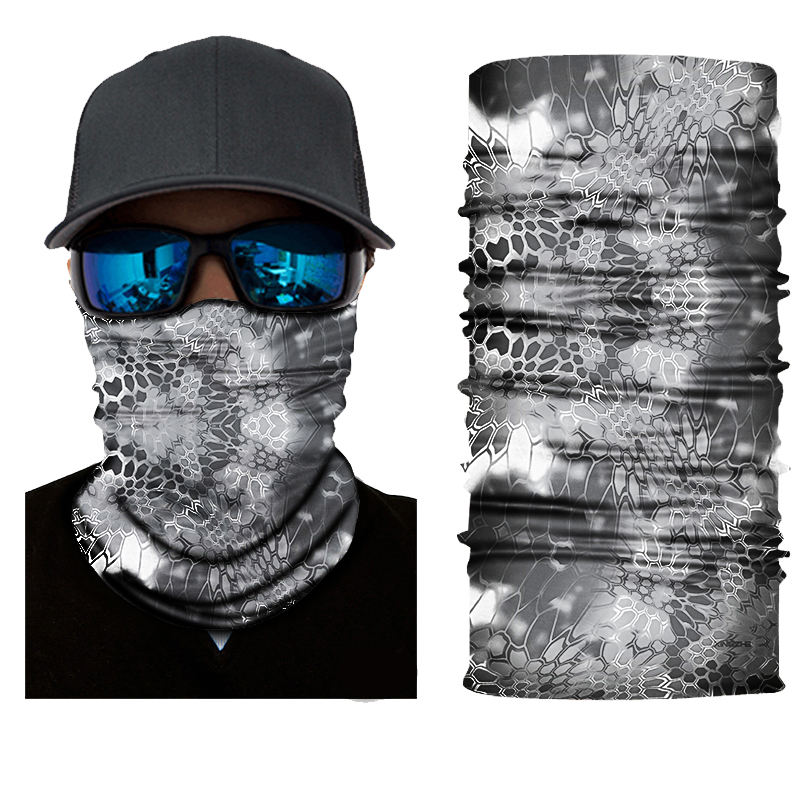 Neck Warmer Face Skull Custom Logo 100% Polyester Microfiber Tube Bandana Snood