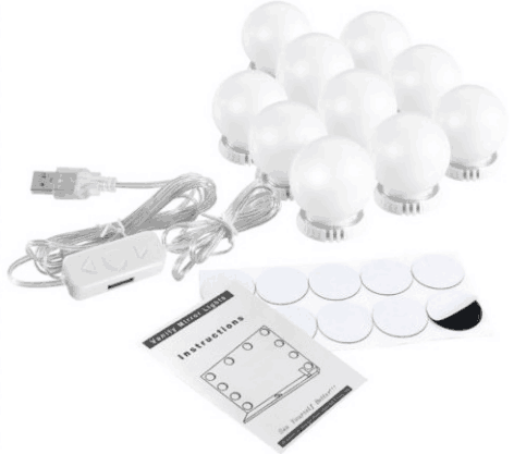 Hollywood Trucco Led Lampadine Make-up Specchio Cosmetico Luce di <span class=keywords><strong>Lampadina</strong></span> con Stabile 3M