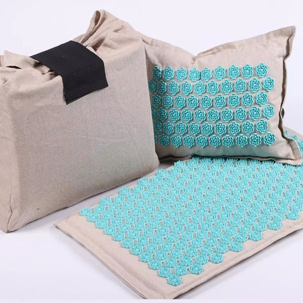 Acupressure Mat for Massage Organic Linen Cotton With Carry Bag