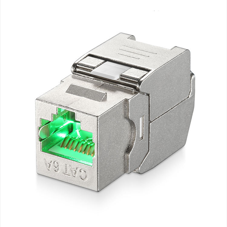 LED Toolless rj45 שקע אבץ סגסוגת מודול cat6a keystone שקע