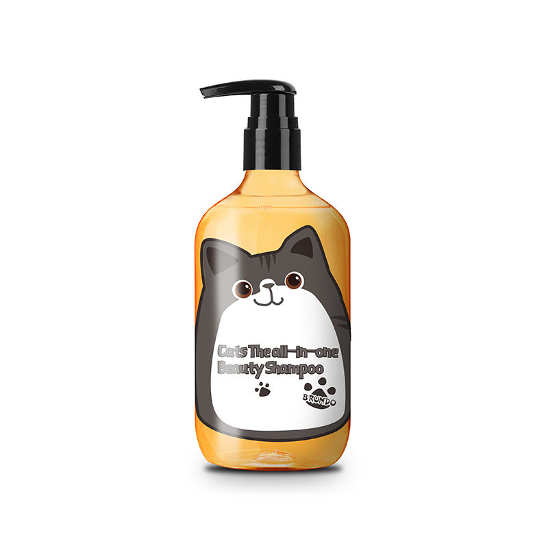 Brundo private label cat beauty shampoo pet all in one cat shampoo