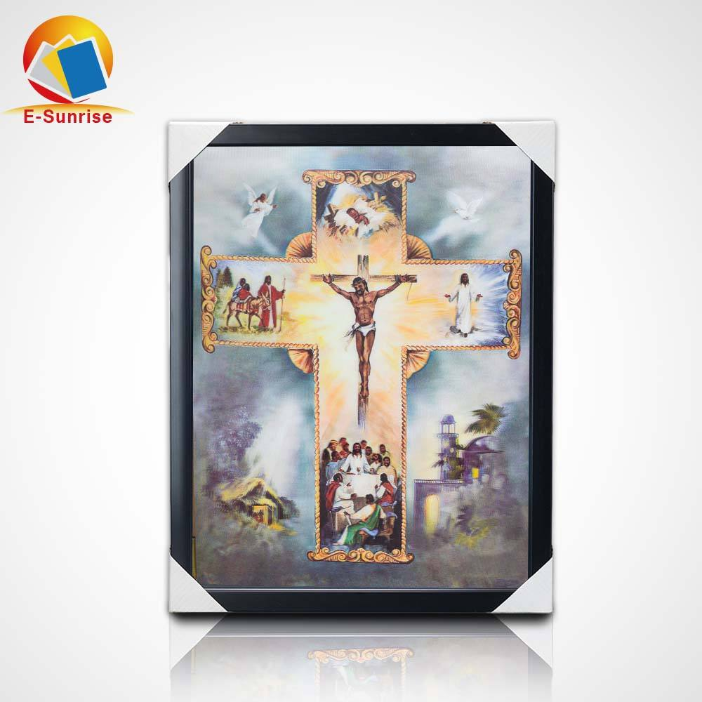 30*40cm deep 3d 3 flips effect picture printing of goddess carry a baby religion belief