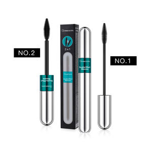 Hot Sale Waterproof 2 in 1 Mascara Personalizada 3D Long Lasting Curl Eyelash Mascara