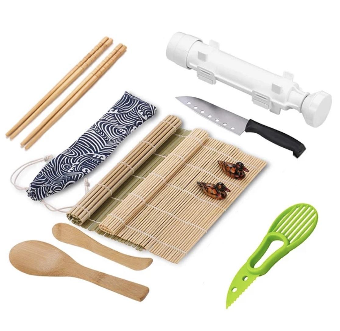 Sushi Making set Natural Sushi DIY Rolling Kitchen Bamboo Rolling Mats sushi mold