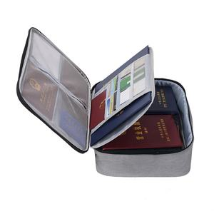 2 Layer Oxford Document Bag Holder Ritssluiting Draagbare Bestand Pocket Organizer