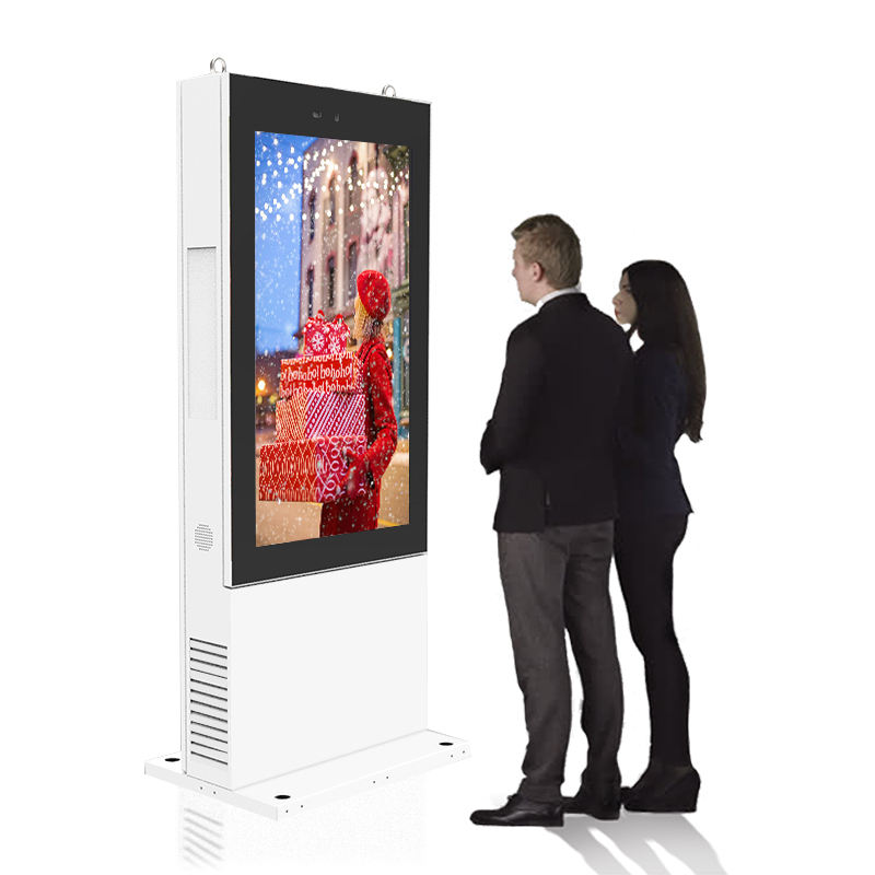 Waterdichte Tactiele Exterieur Outdoor Lcd Display Reclame Screen Android Digital Signage Totem Kiosk