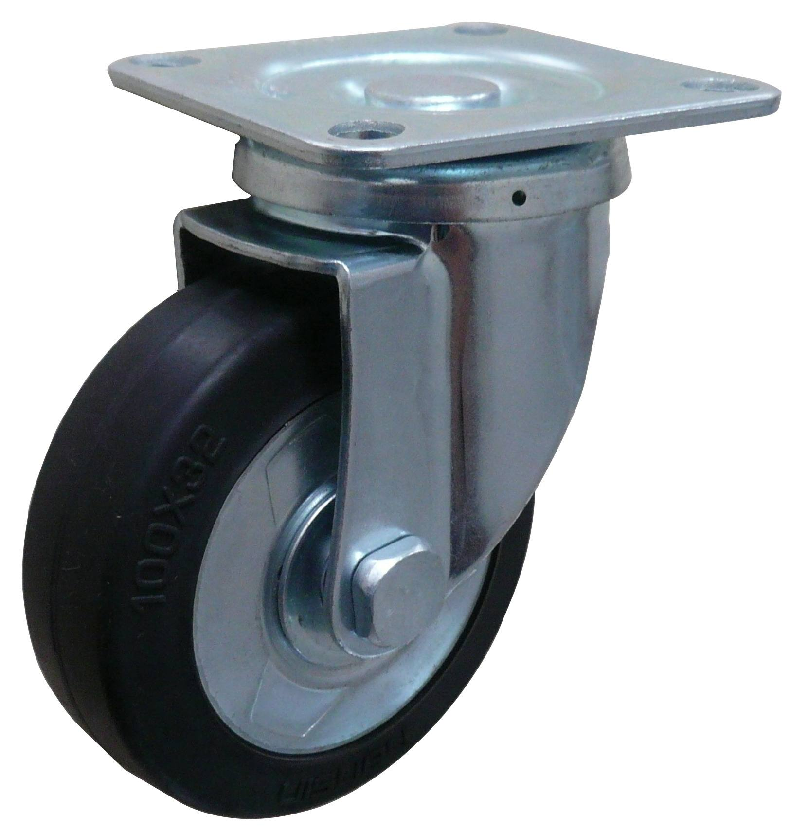 China manufacturer 6 inch rubber double ball swivel caster wheel
