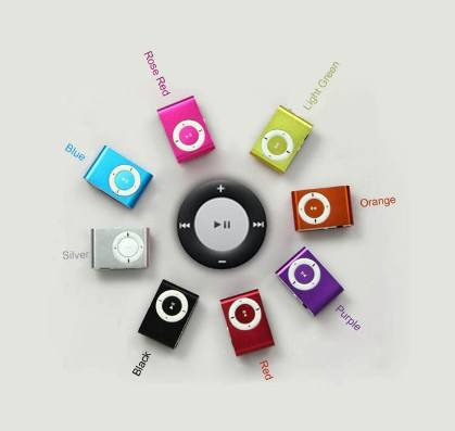 Shenzhen factory sport Mini usb Clip music MP3 Player Without lcd Screen support chinese song download