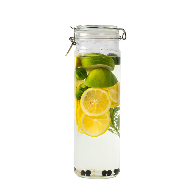 71OZ Airtight Glass Canister Glass Kitchen Storage Canister with Airtight Hinged Lids and Rubber Gasket