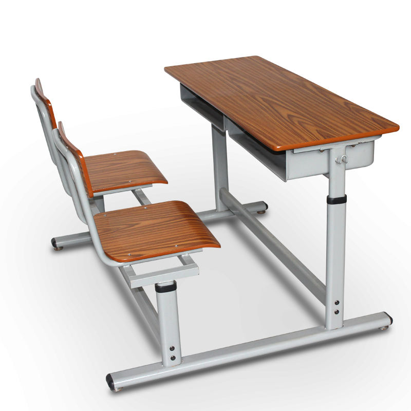 Even Arrangeing School Furniture Tables and Chairs Two Seat Student Desk and Chair for Sale