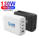 US/EU/KS GaN 130W 4 Port High Power Charging Type-C QC3.0 Wall Charger PD3.0 USB-C Power Adapter