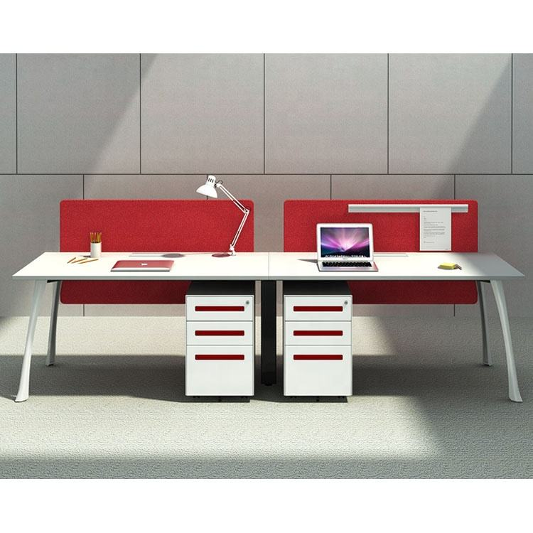 Easy Installation [ Furniture China ] Desk Workstation Modern Office Desk Furniture VLF Series 2 Seater Workstation From China