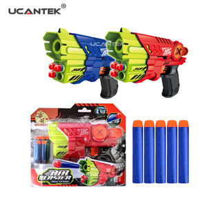 Shooting Game Gun Toys ABS Plastic Air Blaster Manual EVA Soft Bullet Toy Gun For Kids