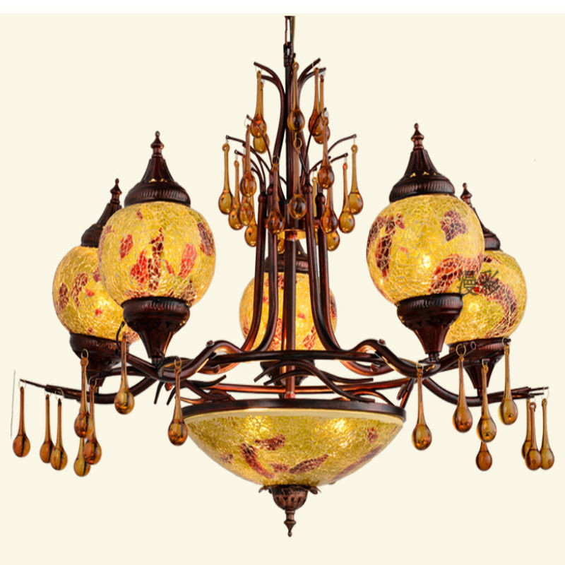 Bohemian Turkish style decorative chandelier export chandelier black rose pendant ceiling lamp