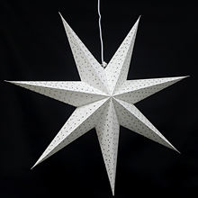 Chinese Style Solid Paper Star Lantern Led Light Party  Decoration