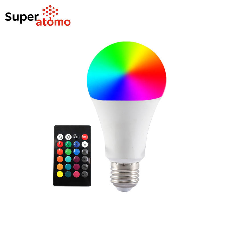 New Innovation E27 B22 Multicolor LED Lamp Light Color Changing Bulb Remote Control LED RGB Bulb
