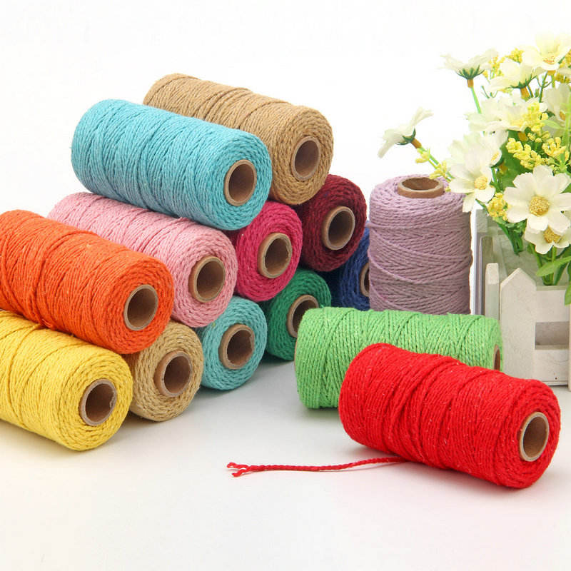 Eco-friendly Colorful Jute Twine Natural Hemp Cord For DIY Scrapbooking